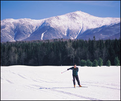 Winter exercise -- cross country ski
