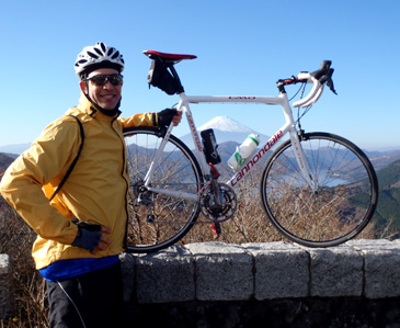 Cannondale ride up Hakone, a good view of Mt. Fuji