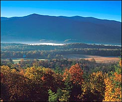 Fall among Smoky Mountains of Tennessee